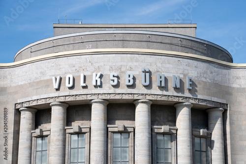 Spoed Foto op Canvas Theater Volksbühne Berlin am Rosa-Luxemburg-Platz, Berlin Mitte, Deutschland