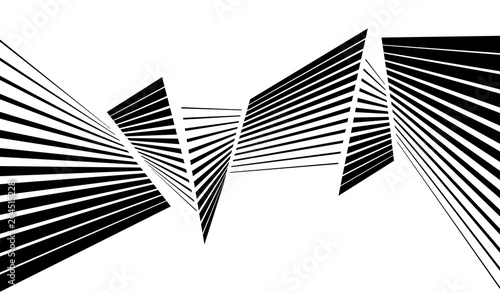 Fotografia  black and white stripe line abstract graphic optical art background