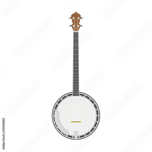 Fotomural Vector illustration of a banjo in cartoon style isolated on white background