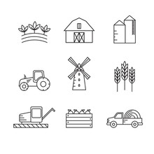Farming And Agriculture Vector...