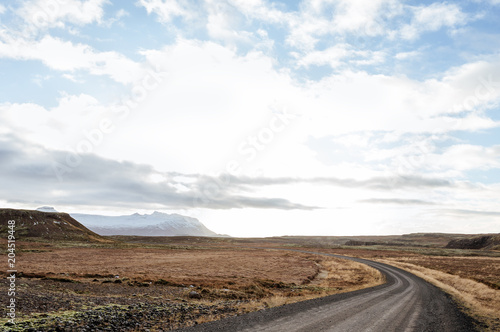 In de dag Cappuccino Fantastic landscape of the west Iceland. Autumn.