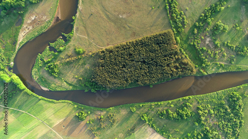 aerial-view-of-natural-river-in-spring