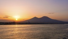 Sunrise In The Gulf Of Naples With Vesuvius In The Background