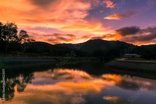 beautiful sky after the sunset #204523071