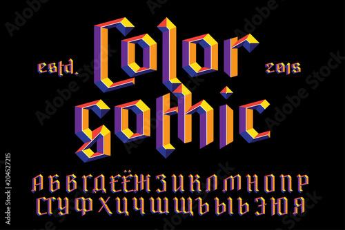 Fotografie, Obraz  Color gothic alphabet