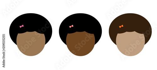 Avatar rosto de mulher negra cabelo curto