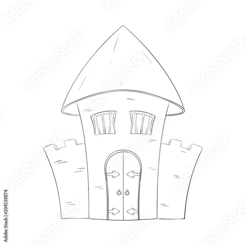 Old Castle Outline Vector Illustration Buy This Stock Vector And