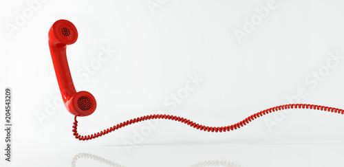 Fototapeta Rotes Telefon - Hotline