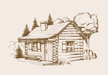 Vector Wooden House