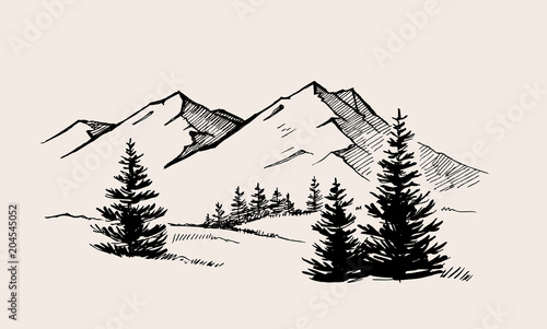 Canvas Prints White mountain landscape nature