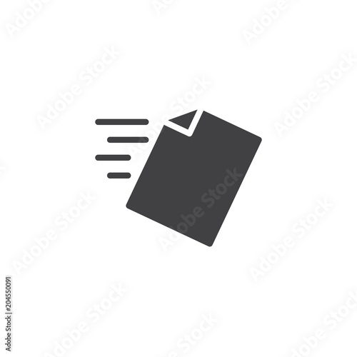 Foto File send vector icon