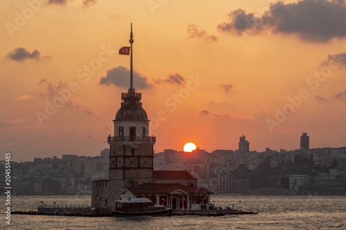 Fototapeta Maiden Tower  Istanbul, Turkey (KIZ KULESI – SALACAK-USKUDAR)