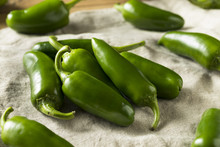 Raw Green Organic Jalapeno Peppers
