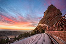 Red Rocks At Sunrise In The Wi...