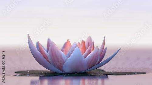 Fototapeta a lotus flower good for relaxation(3d rendering)