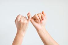 Two Hands Hook Little Finger T...
