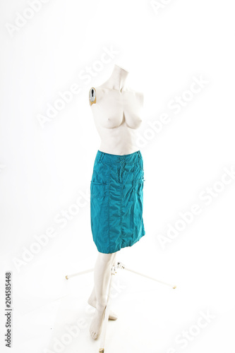 62c3d066b54 Blue skirt Black pink on mannequin full body shop display. Woman fashion  styles