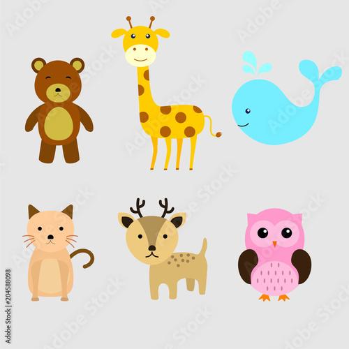 Cute Animals Cartoon #204588098