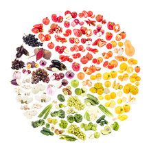 Circle Made From Fruits And Ve...
