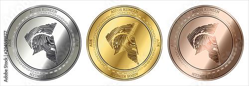 Fotografía Aidos Kuneen (ADK) coin set.