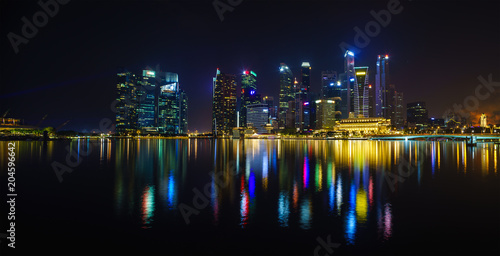 Photo  Skyline and  business district of Singapore
