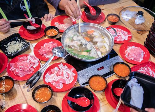Fotografie, Obraz  Thai hot pot soup.