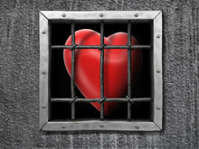 Heart Behind Fence