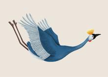 Illustration Of A Japanese Crane