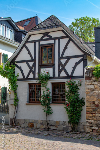 Facade Of A Small Old House In The Inner City Of Duderstadt In
