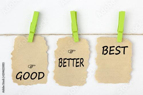 Fotografía  Good Better Best Concept