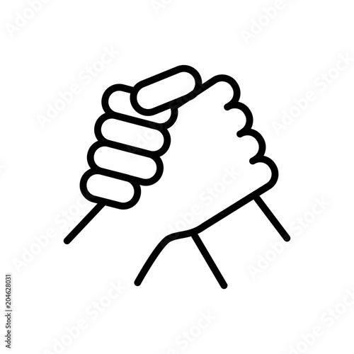 Fotografie, Obraz  arm wrestling sportive icon