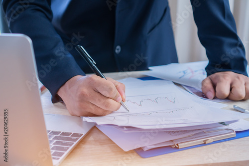 document report and business busy concept businessman manager