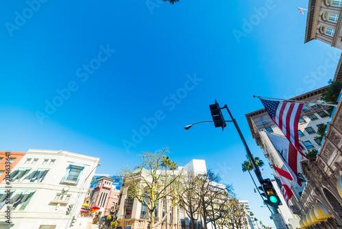 Tuinposter Amerikaanse Plekken Clear sky over Beverly Hills