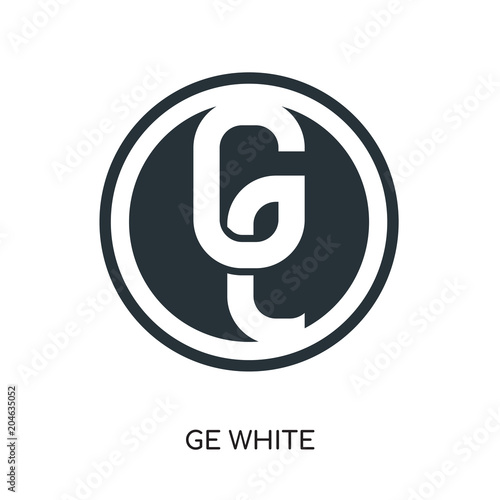 Ge White Logo Isolated On White Background Colorful Vector Icon