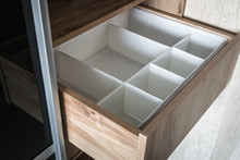 Wardrobe With Sliding Doors And Drawers Drawer. Modern Materials And Furniture For Interior