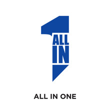 All In One Logo Isolated On Wh...