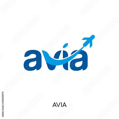 avia logo isolated on white background , colorful vector icon, brand sign & symb Canvas Print