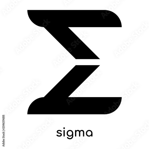 Fotografie, Obraz  sigma symbol isolated on white background , black vector sign and symbols