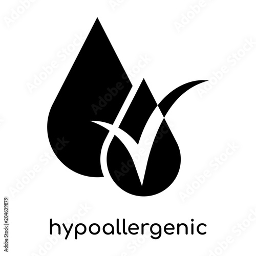 hypoallergenic symbol isolated on white background , black vector sign and symbo Wallpaper Mural