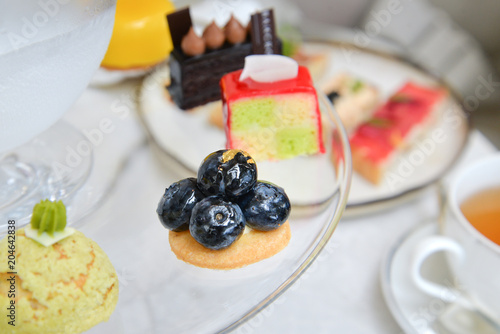 Foto op Canvas Dessert Afternoon tea with assorted dessert
