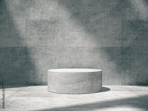 Pedestal for display,Platform for design,Blank product,concrete room Canvas Print