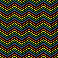 Embroidery Chevrons Zigzag Sea...