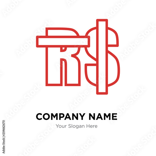 Saudi Riyal Company Logo Design Template Colorful Vector Icon For Your Business Brand Sign