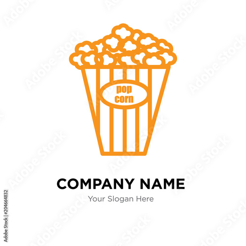 Popcorn Kernel Company Logo Design Template Colorful Vector Icon For Your Business Brand Sign And Symbol