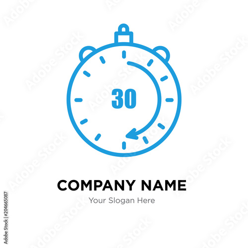 Fotomural  30 minutes company logo design template, colorful vector icon for your business,