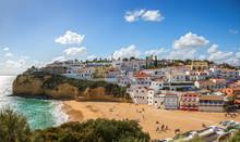 View Of Carvoeiro At  Sunny Spring Day, Lagoa, Algarve, Portugal