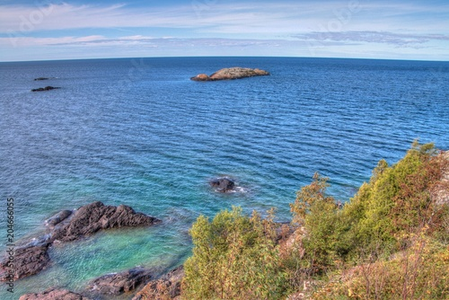 Fotografie, Obraz  Pukaskwa National Park is on the Shores of Lake Superior in Northern Ontario, Ca