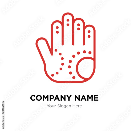 Henna Painted Hand Company Logo Design Template Colorful Vector