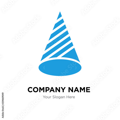 Hat company logo design template, colorful vector icon for your