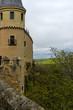 View of Alcazar de Segovia castle in a cloudy day